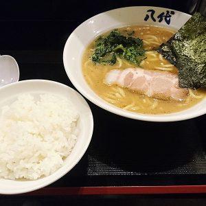 横浜家系らーめん 八代 ラーメンとライス